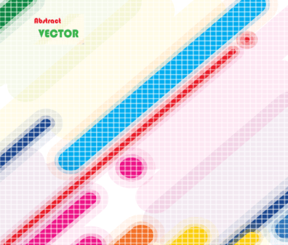 Abstract Multicolor Lines Background Vector Art