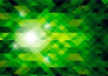 Vector Abstract Green Polygonal Background Design