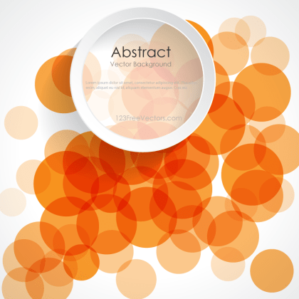 Abstract Orange Circle Design Background Banner Vector Image