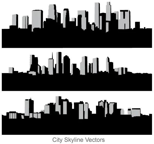 Free City Skyline Vector Art