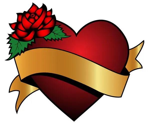 Heart design ribbon