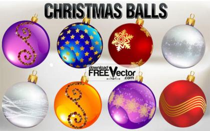Vector Christmas Ornaments Free