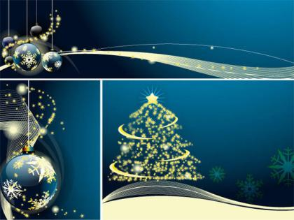 Merry Christmas & New Year Greeting Card, Banner Vector Free