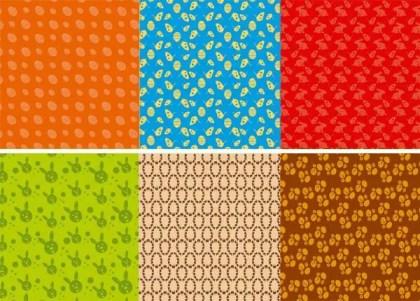 Easter Egg Bunny Pattern Vector Wallpaper
