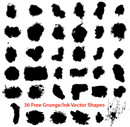 Free Grunge Ink Draw Shapes Vector