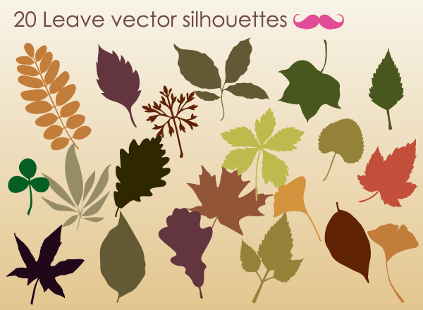 Free Autumn Leaves Silhouettes Vector