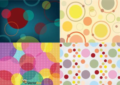 Seamless Vector Circle Patterns Free Download