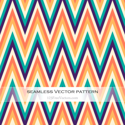 Free Colorful Chevron Pattern Vector Art