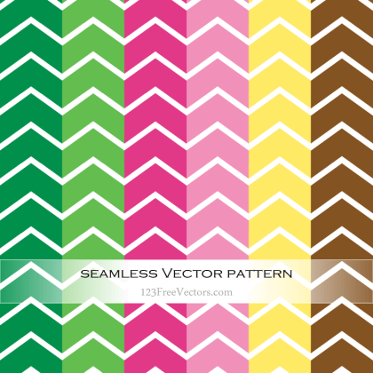 Colorful Chevron Pattern Vector