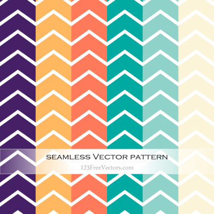 Colorful Chevron Pattern Vector Illustration