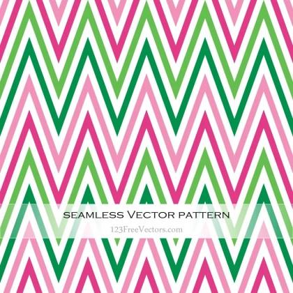 Pink and Green Zig Zag Seamless Pattern