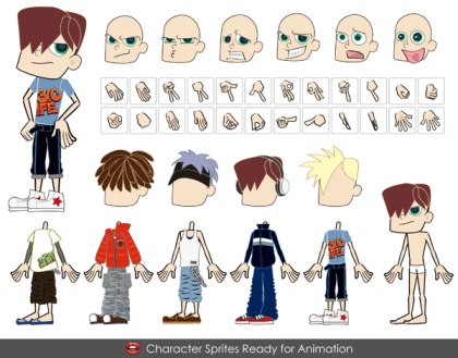 Free Vector Cute Boy Cartoon Characters