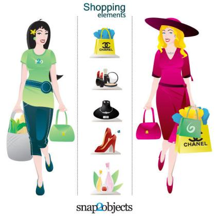 Shopping Characters and Elements