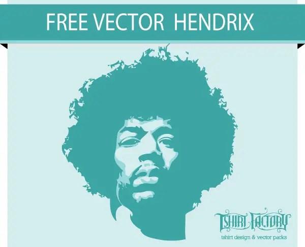 Jimi Hendrix Stencil Free Vector Graphics 123freevectors