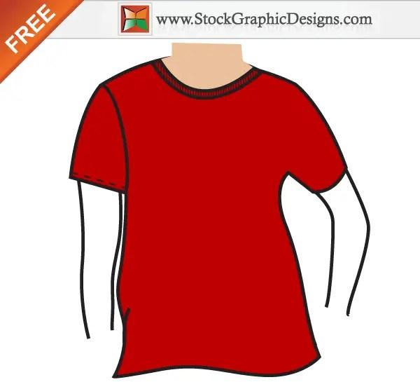 Men S Basic T Shirt Mockup Template Vector