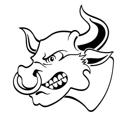 Angry Bull With Nosering Free Vector
