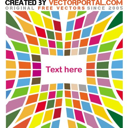 Colored Tiles Abstract Graphics Free Vector