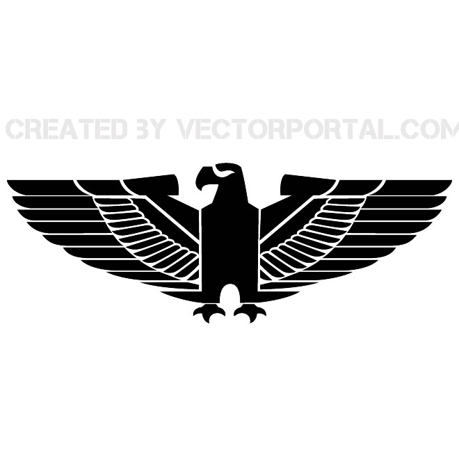 eagle with spread wings free vector eagle with spread wings free vector