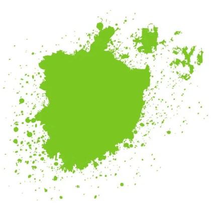 Green Blot Image Free Vector