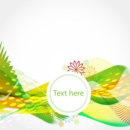 Green Waves Background Free Vector
