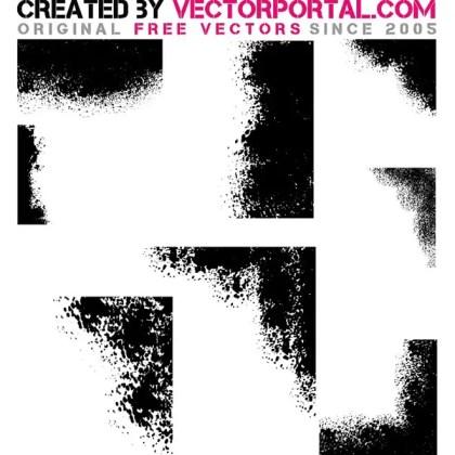 Grunge Edges Pack Free Vector