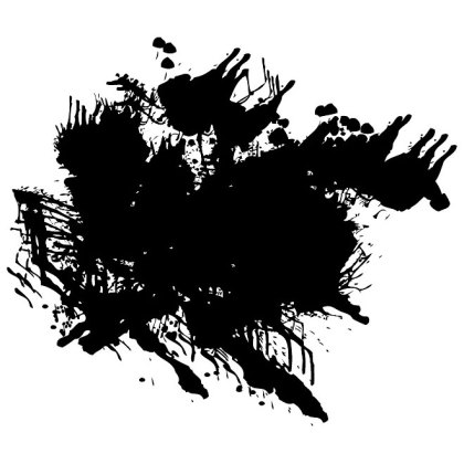 Grunge Splatter Artwork Free Vector