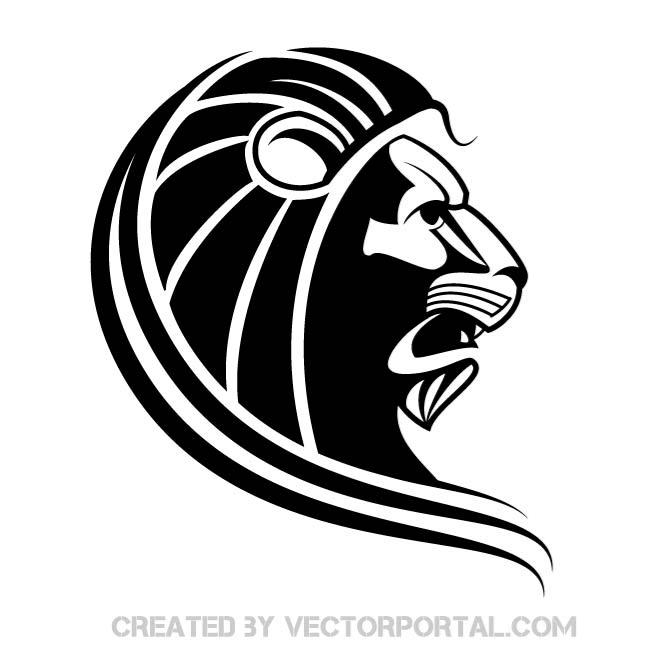 Lion Silhouette Free Vector Lion crown with sunglasses silhouette svg cut file. lion silhouette free vector