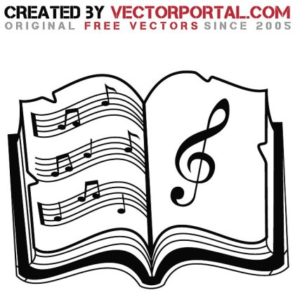 Music Book Graphics Free Vector