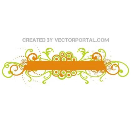 Orange Banner Stock Design Free Vector