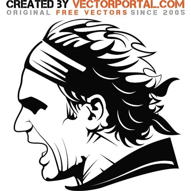 Roger Federer Image Free Vector