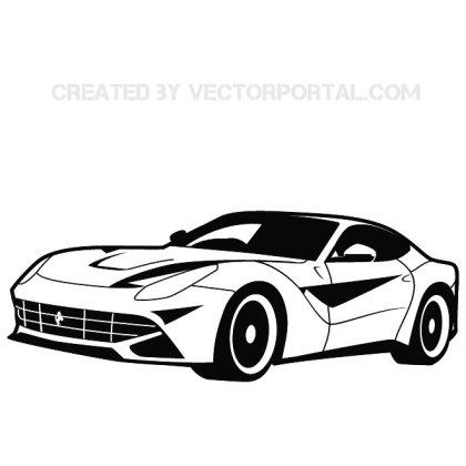 Sports Car Stock Free Vector