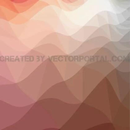 Wavy Polygonal Art Free Vector