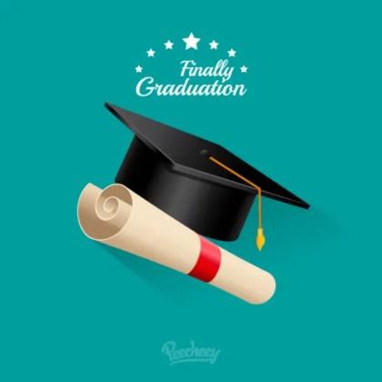 Finally Graduation Free Vector