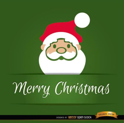 Santa Claus Head Christmas Card Free Vector