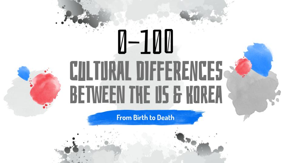 0-100: Cultural Differences Between the US & Korea
