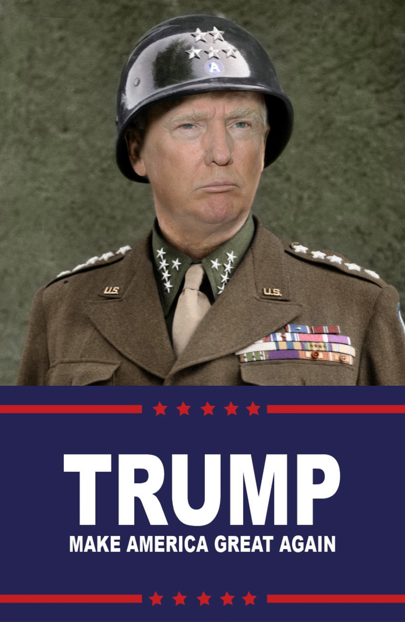 Hasil gambar untuk general patton donald trump