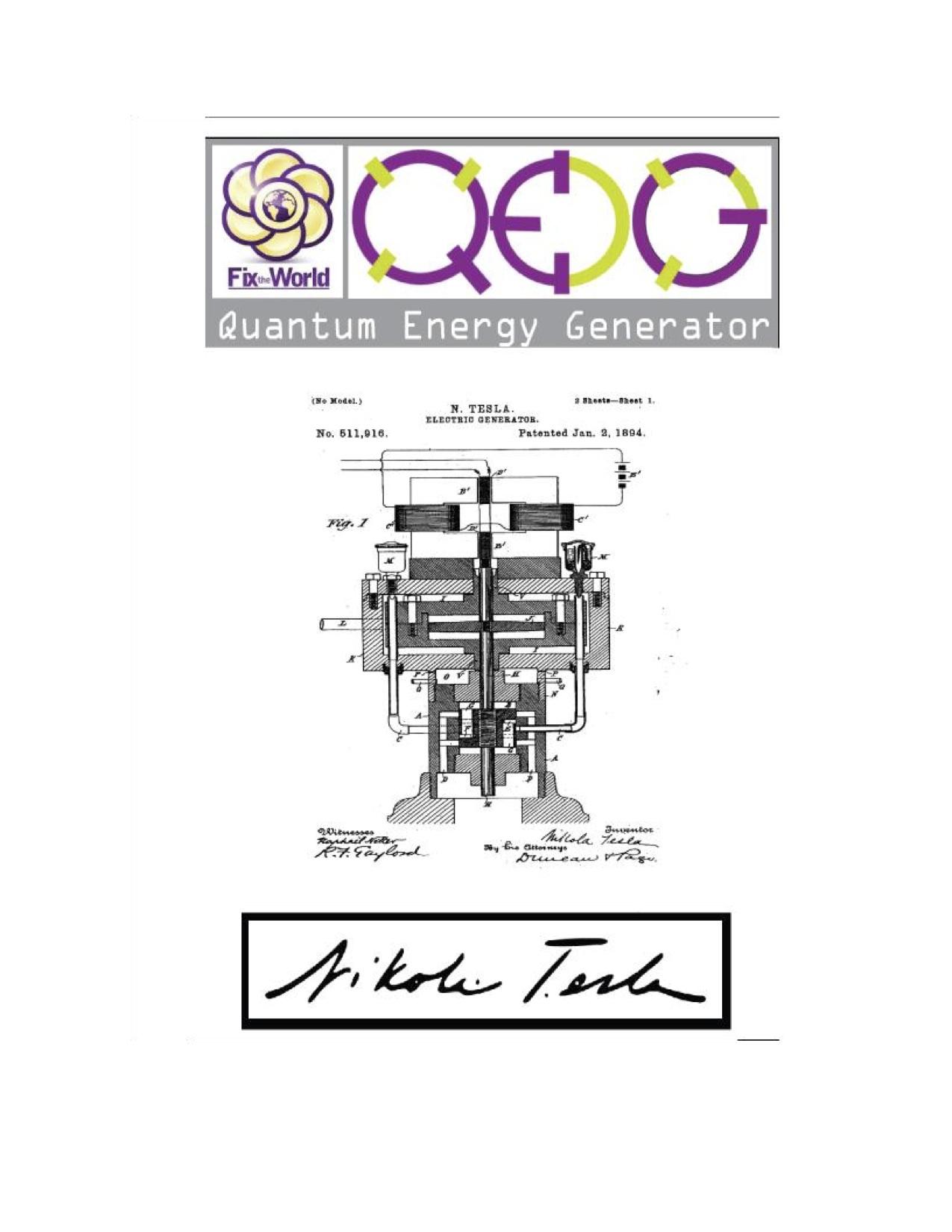 Qeg Quantum Energy Generator