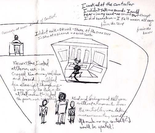 Disegno di Kenneth Rose - interno di UFO 1992