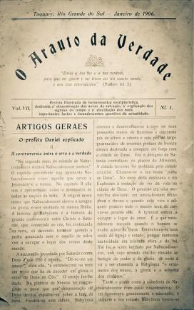 O Arauto da Verdade, revista pioneira, em língua portuguesa no Brasil, lançada em julho de 1900