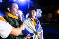 David fue el primer joven que se bautizó el día de la inauguración del Camporí.
