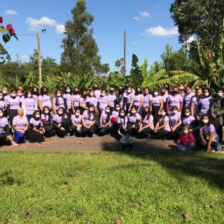 Participantes del retiro del Ministerio de la Mujer