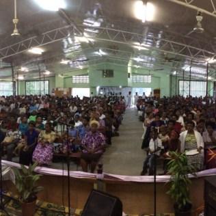 Culto em Hohola Church, em Port Moresby.