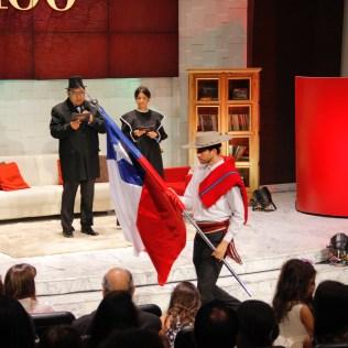 Momento em que entraram as bandeiras dos oito países e do território das Ilhas Malvinas ou Falkland no evento. Foto: Jefferson Paradello