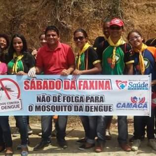 """Clube de Desbravadores Camacoan participando do mutirão """"Todos Contra a Dengue"""""""