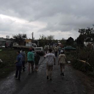 População avalia danos na região atingida