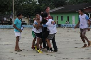 O futsal teve muita comemoração e muita torcida