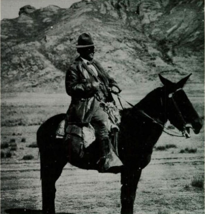 O missionário durante uma de suas viagens