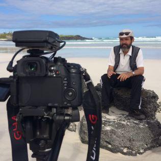 Gravação de videoaula com geólogo Nahor Neves Jr.