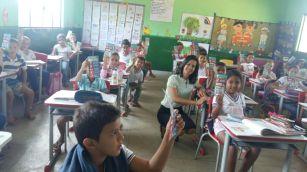 Nas escolas o projeto envolveu palestras e atividades lúdicas.