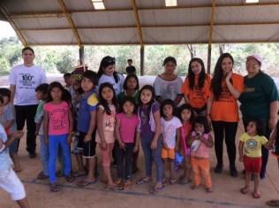 Atividades especiais envolveram as crianças da aldeia.